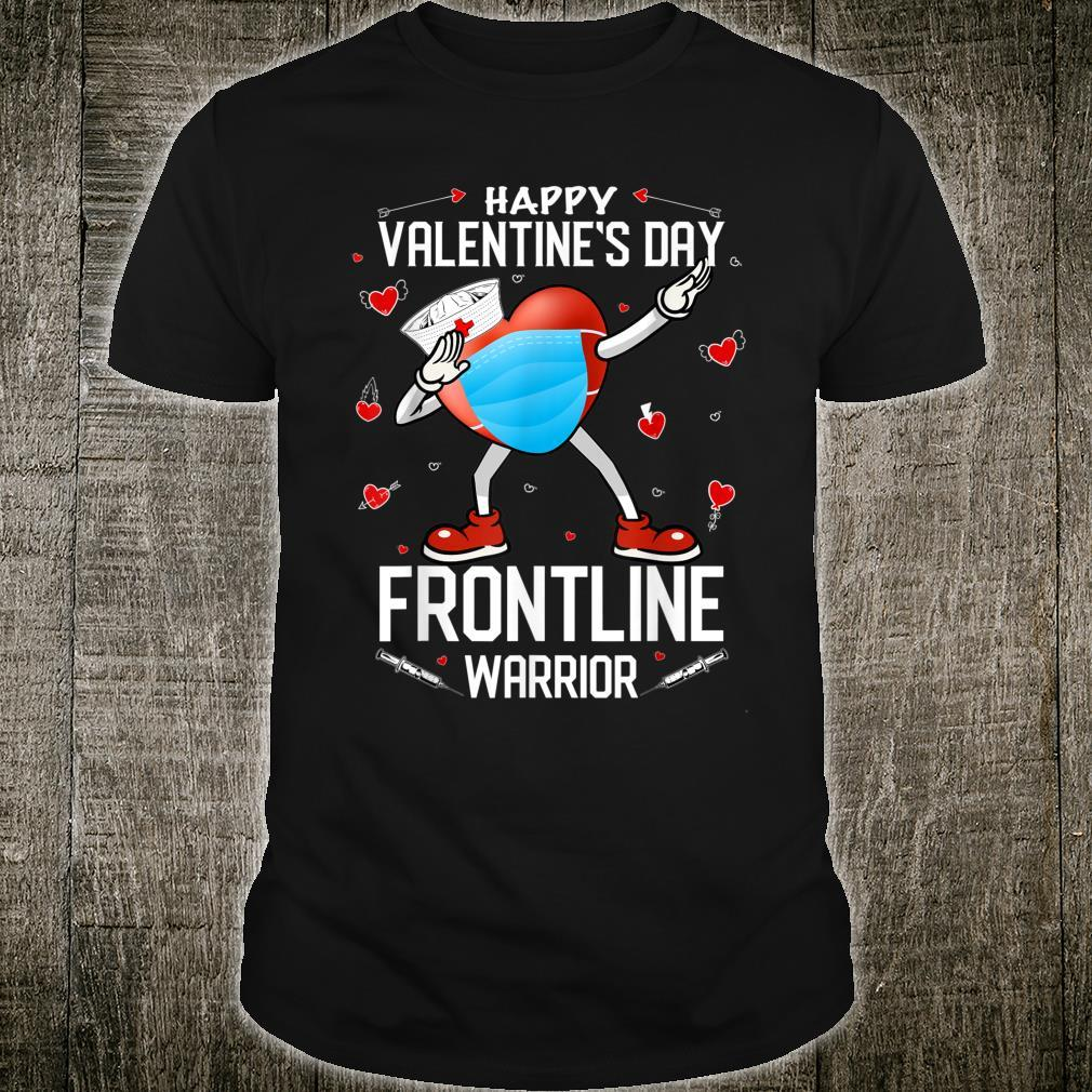 Dabbing Heart In Mask Happy Valentines Day Frontline Workers Shirt