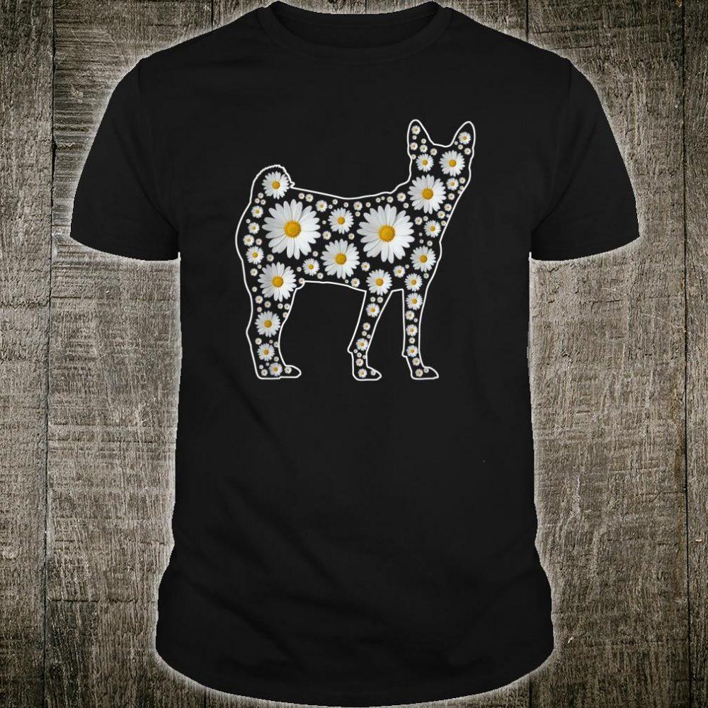 Daisy Flower Basenji Dog Shirt