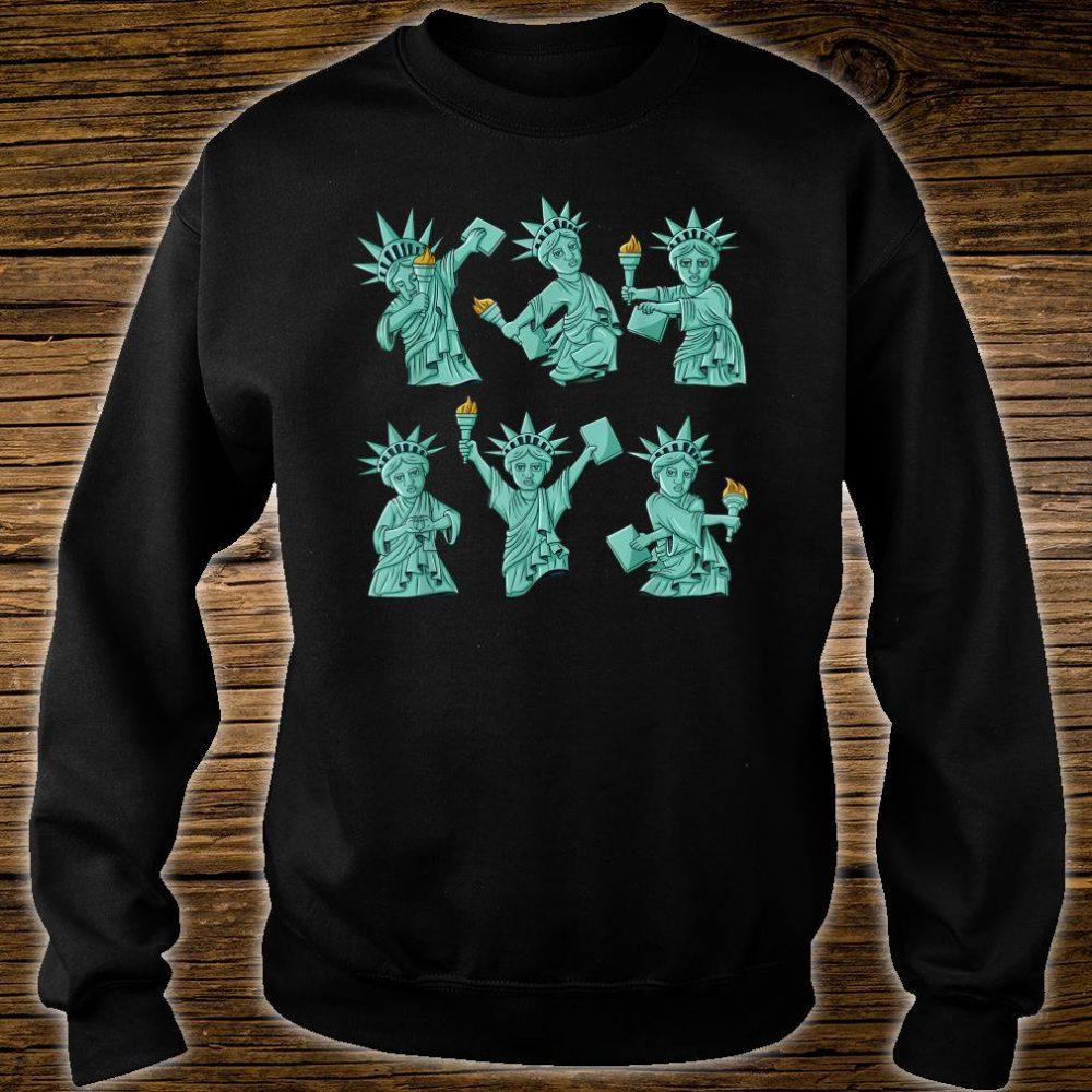 Dancing Statue Of Liberty 4th Of July USA Shirt sweater