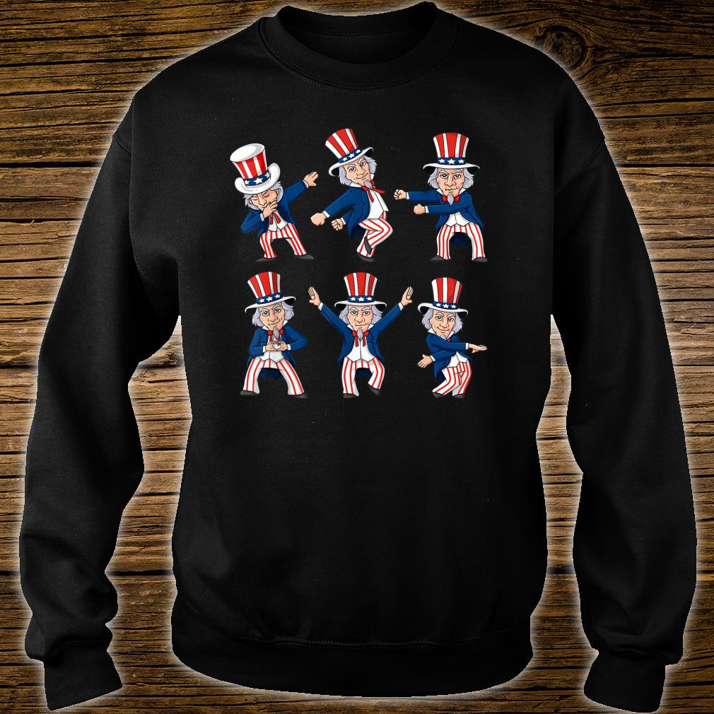 Dancing Uncle Sam 4th Of July Dance Challenge Shirt sweater