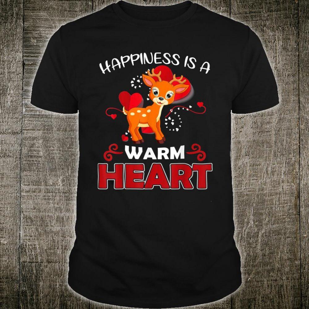 Deer Happiness Is A Warm Heart Deer Lover Shirt