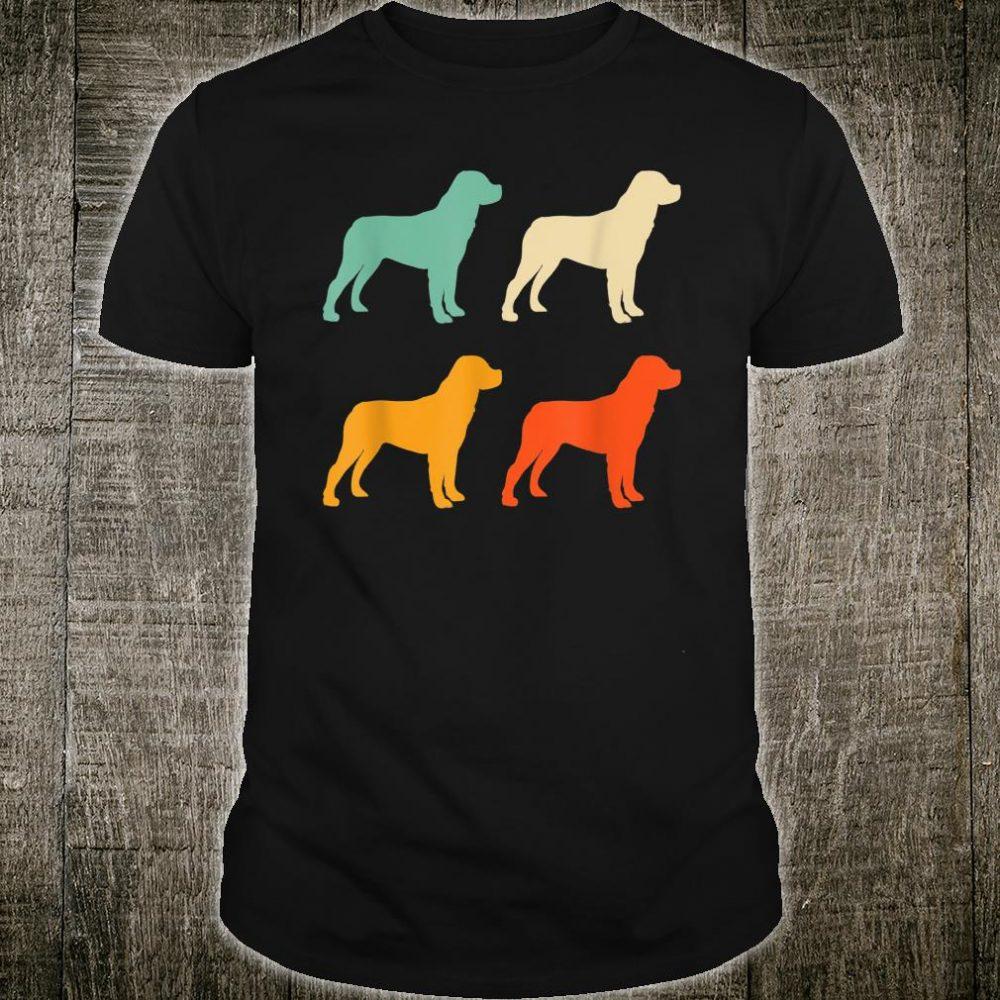 Dog Lover Retro Rottweiler Shirt