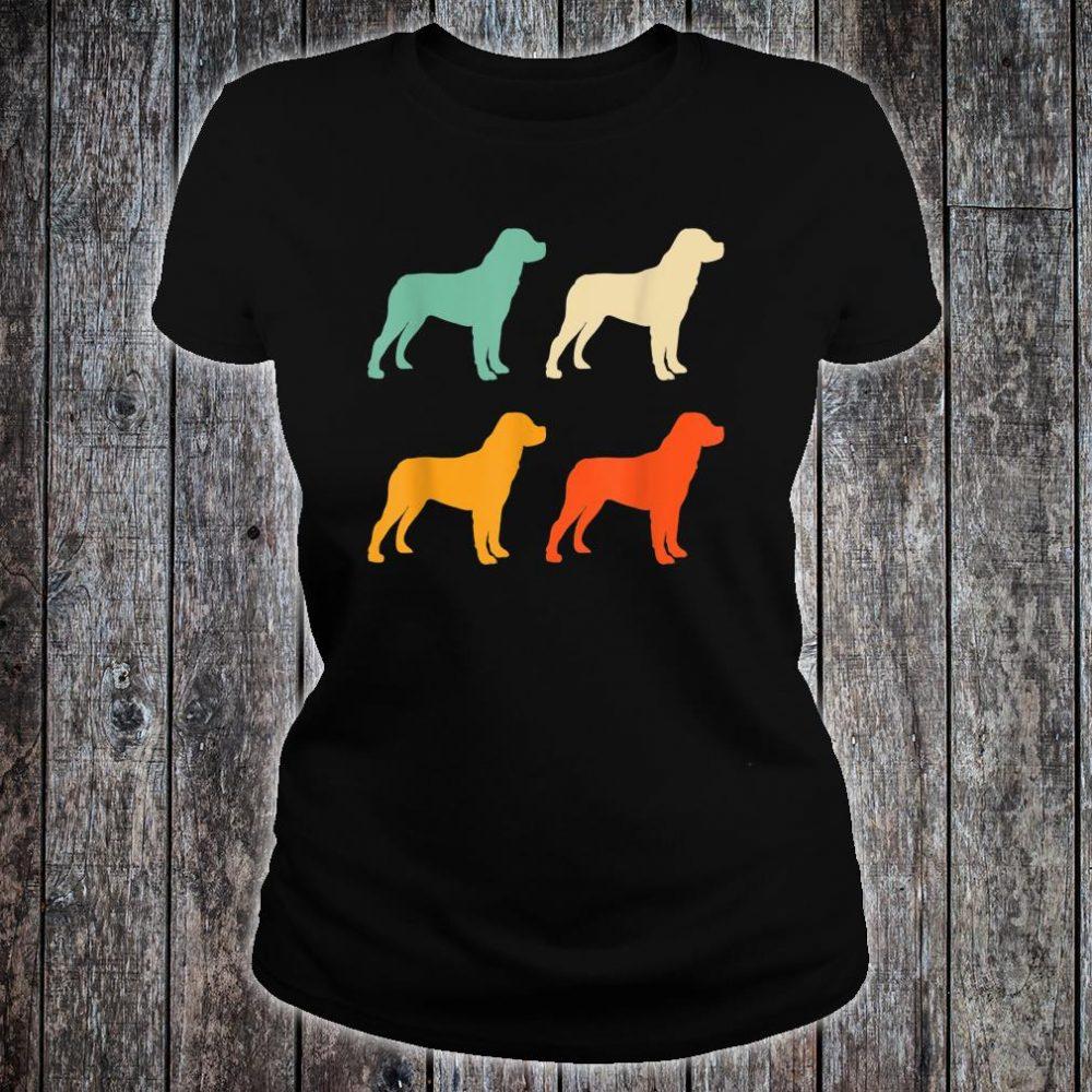 Dog Lover Retro Rottweiler Shirt ladies tee