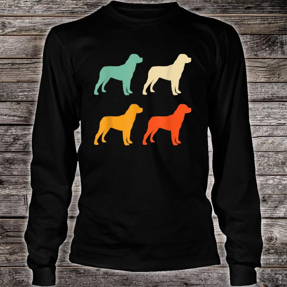 Dog Lover Retro Rottweiler Shirt long sleeved