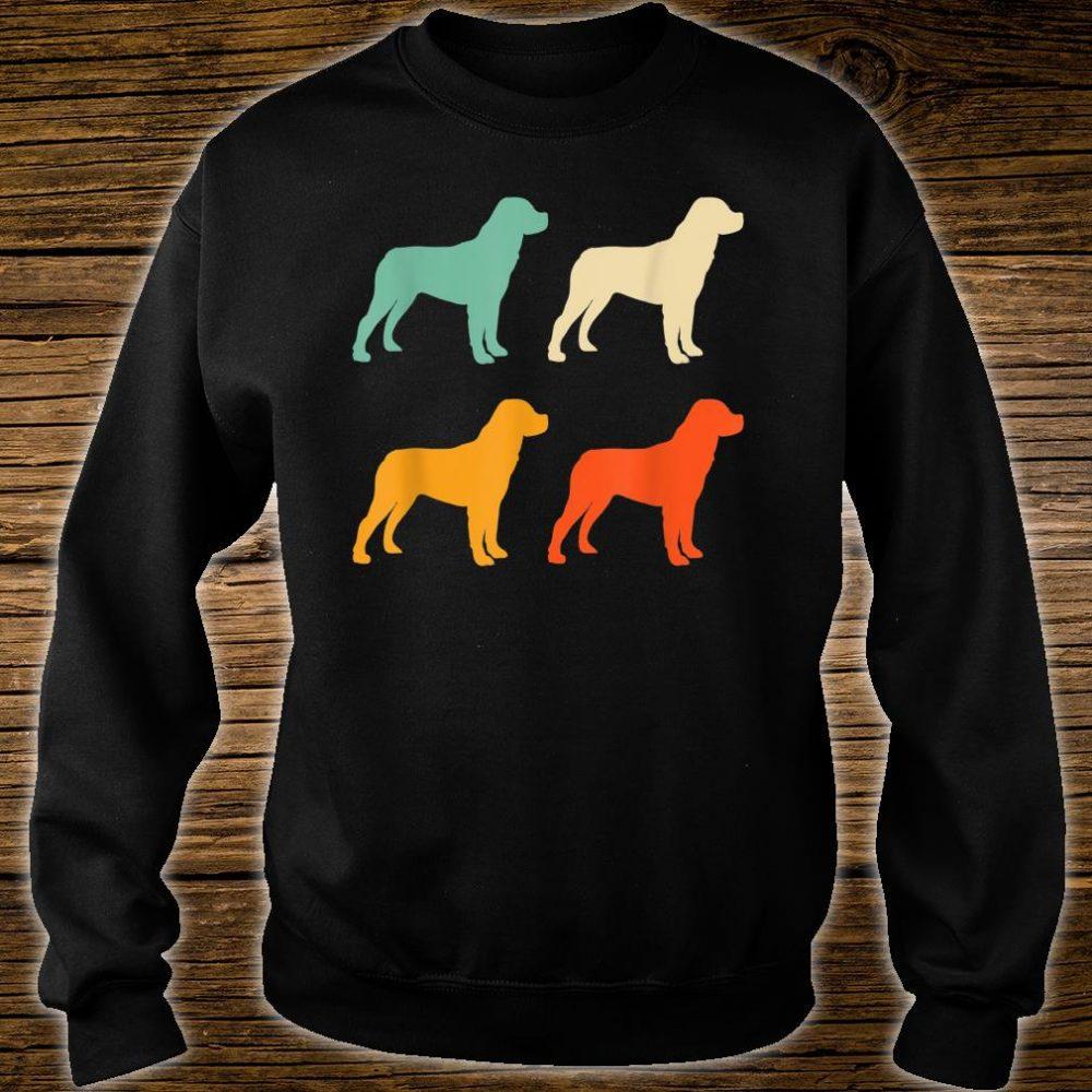Dog Lover Retro Rottweiler Shirt sweater