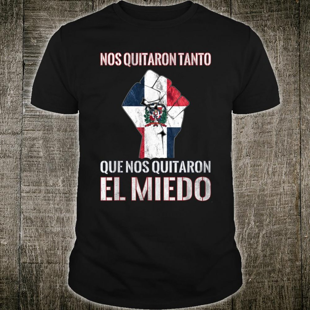 Dominican Republic Flag Fist Dominican Election 2020 Protest Shirt