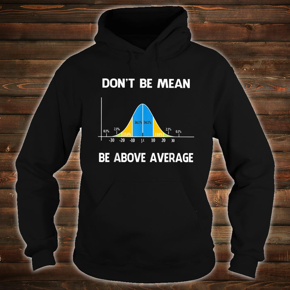 Don't Be Mean Be Above Average Funny Math Lover Shirt hoodie