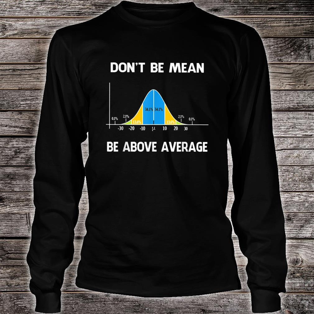 Don't Be Mean Be Above Average Funny Math Lover Shirt long sleeved