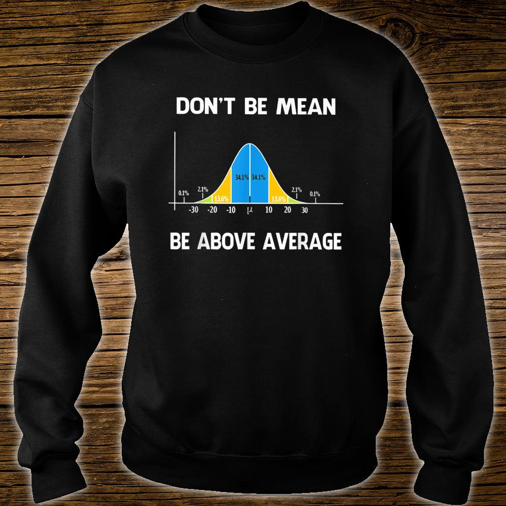Don't Be Mean Be Above Average Funny Math Lover Shirt sweater