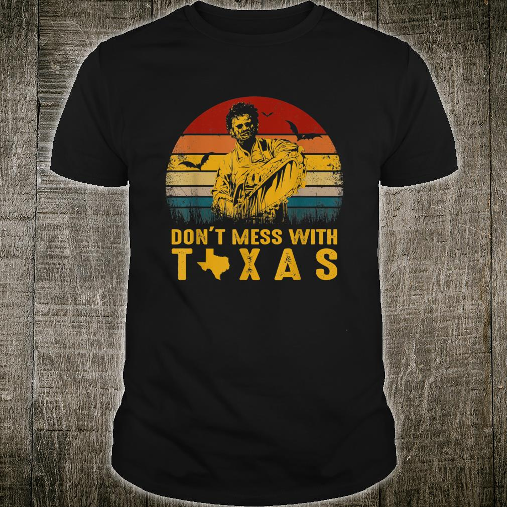 Don't Mess With Vintage Texas Funny Halloween Shirt