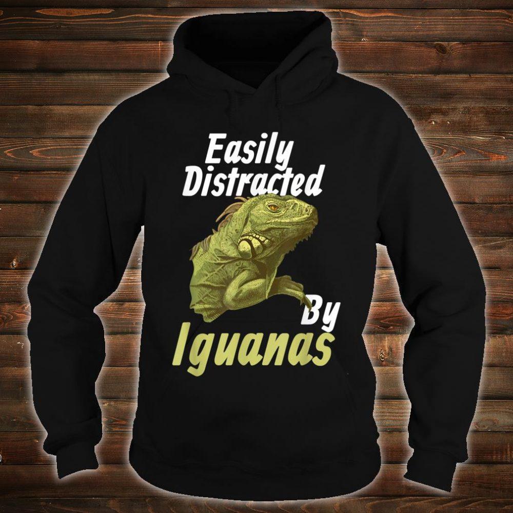 Easily Distracted Iguana Shirt hoodie