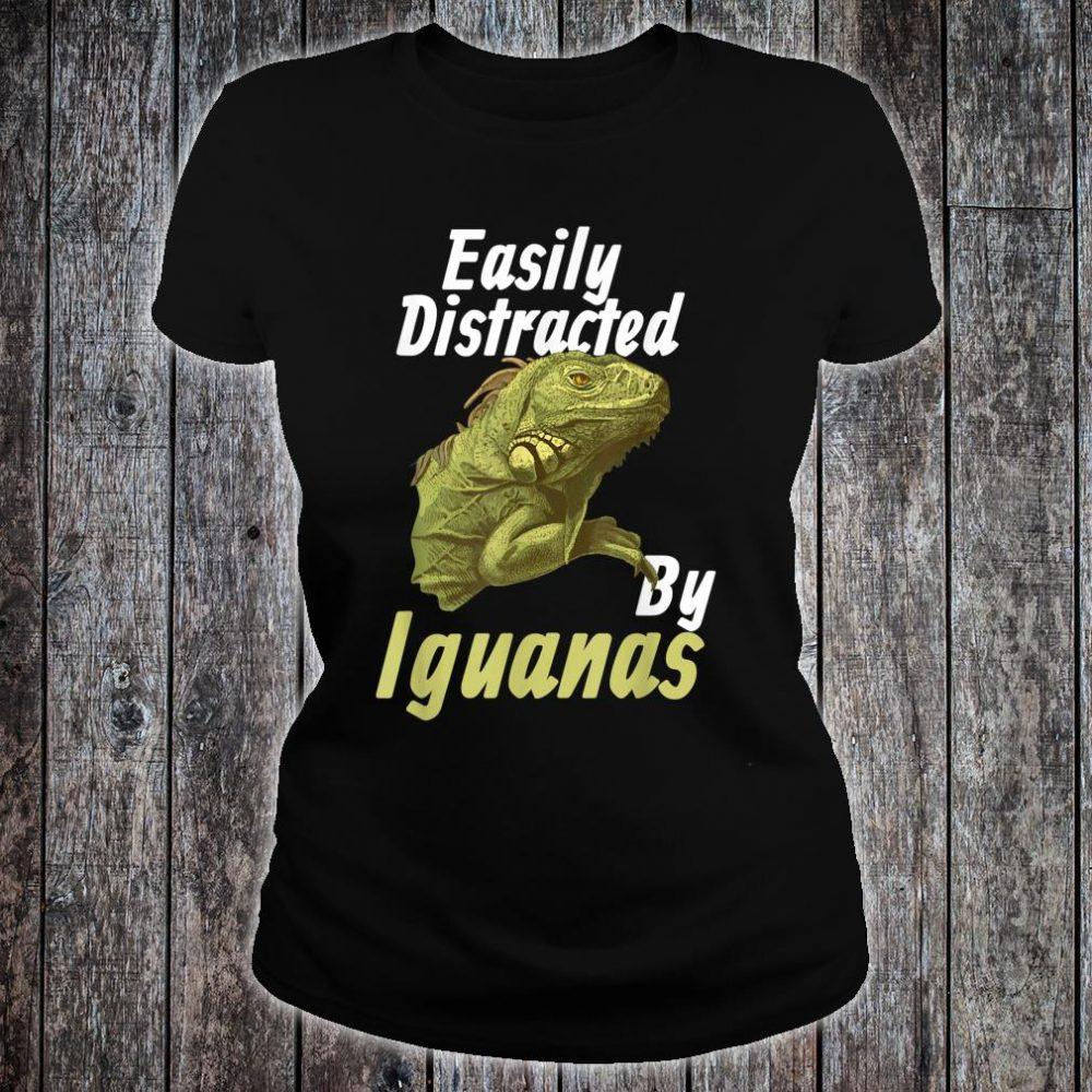 Easily Distracted Iguana Shirt ladies tee