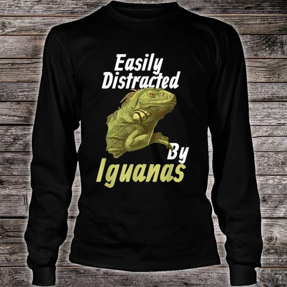Easily Distracted Iguana Shirt long sleeved