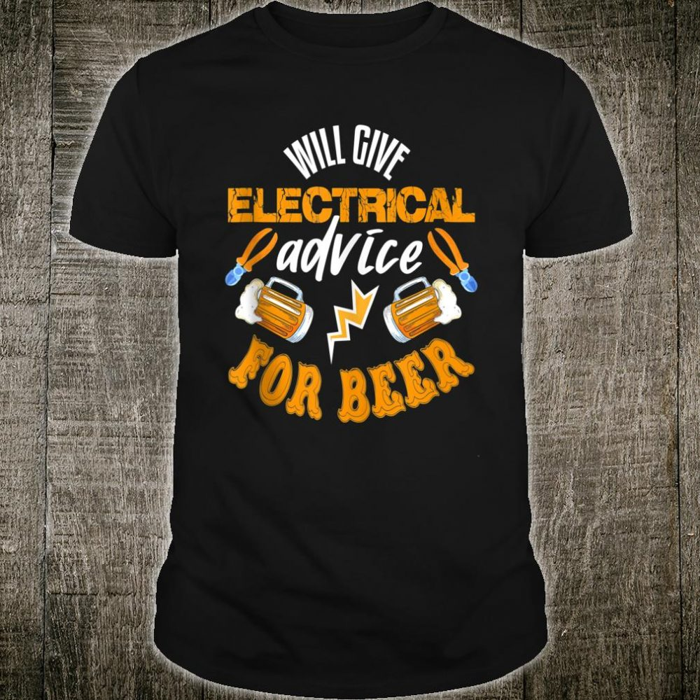 Electrician Shirt Beer Quote Electrician Shirt