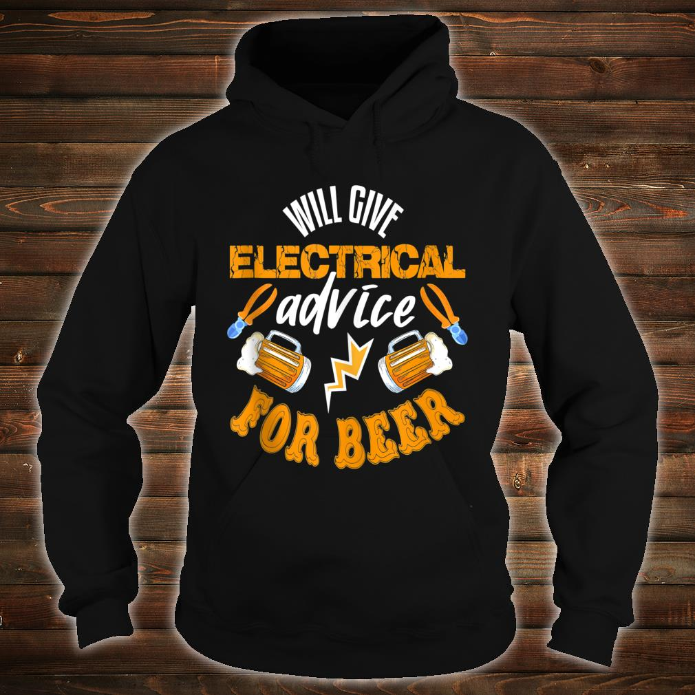 Electrician Shirt Beer Quote Electrician Shirt hoodie