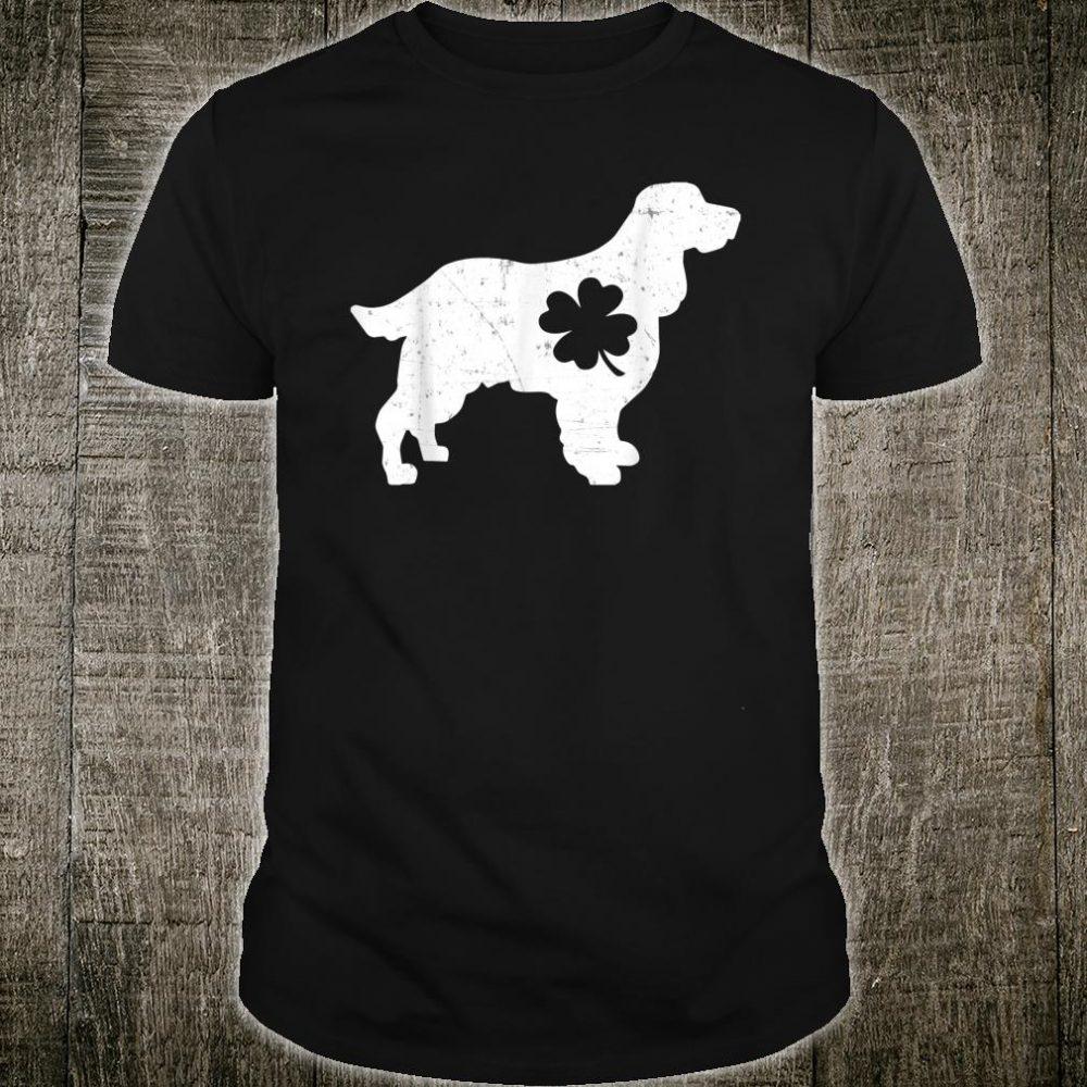 English Springer Spaniel Shamrock Clover Saint Paddy's Day Shirt