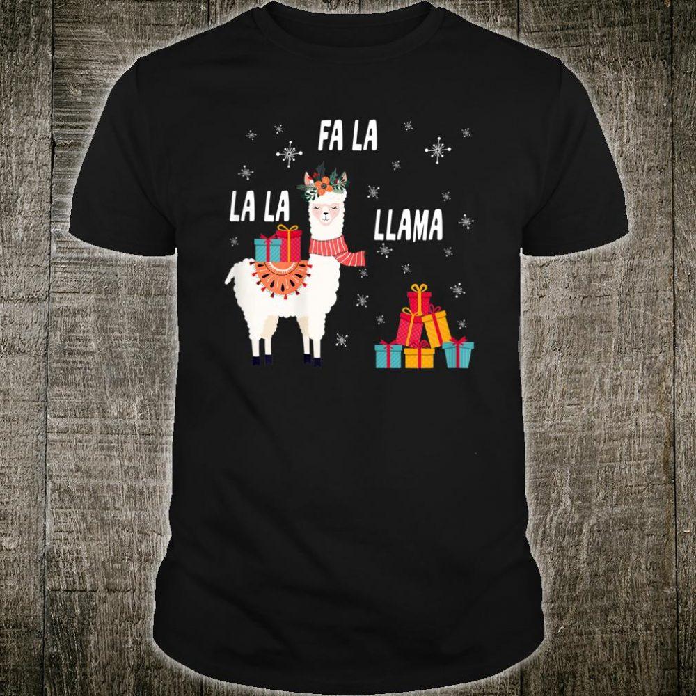 Falala llama pajamas women christmas Shirt