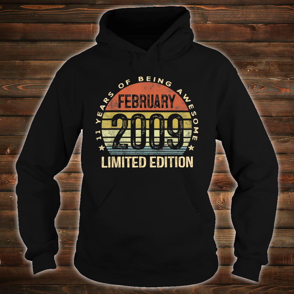 February 2009 Limited Edition 11th Birthday 11 Year Old Shirt hoodie