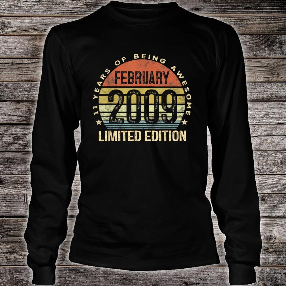 February 2009 Limited Edition 11th Birthday 11 Year Old Shirt long sleeved