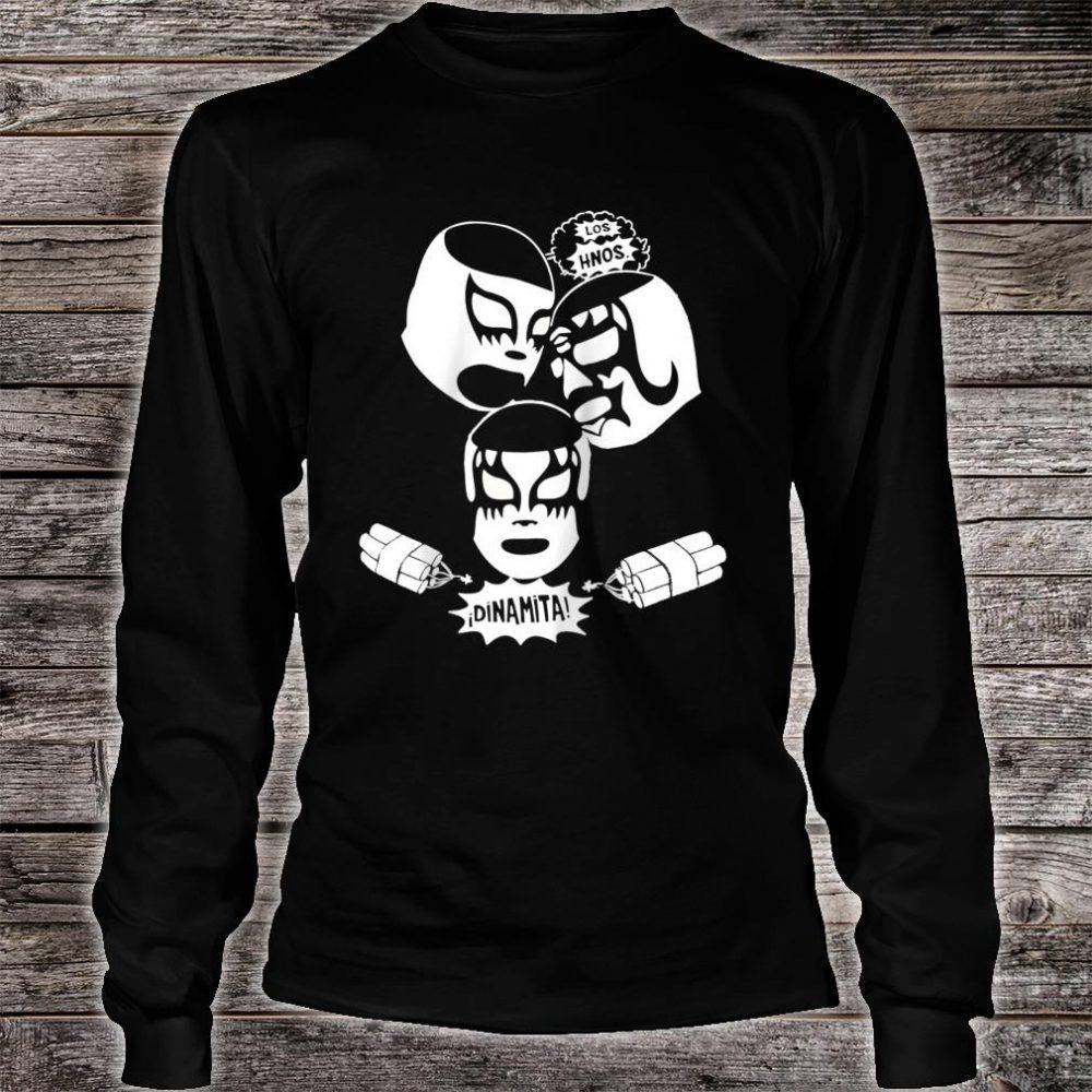 Feelink Los Hermanos Dinamita Mexican Lucha Libre Wrestling Shirt long sleeved