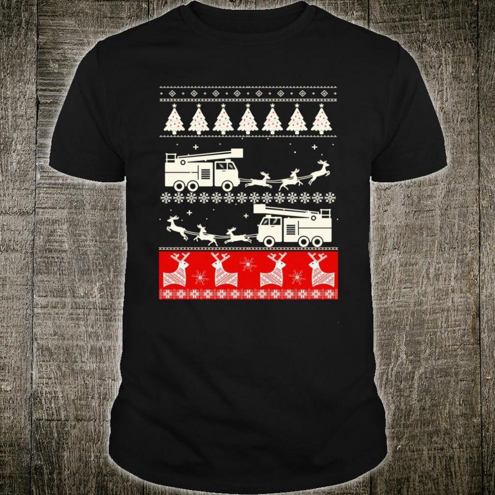 Firefighter Ugly Christmas Shirt