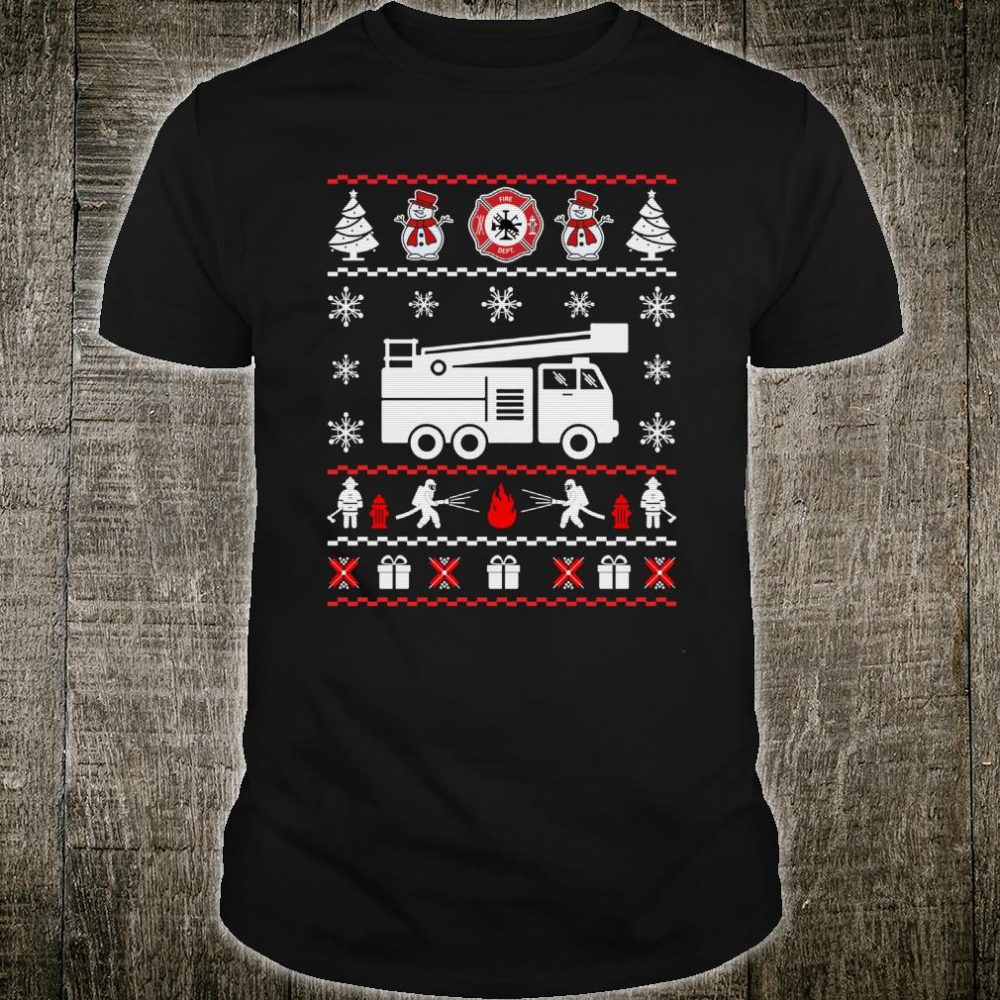 Firefighter Ugly Christmas Sweater shirt
