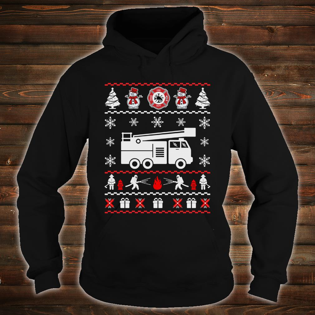 Firefighter Ugly Christmas Sweater shirt hoodie
