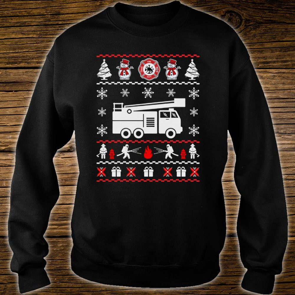 Firefighter Ugly Christmas Sweater shirt sweater