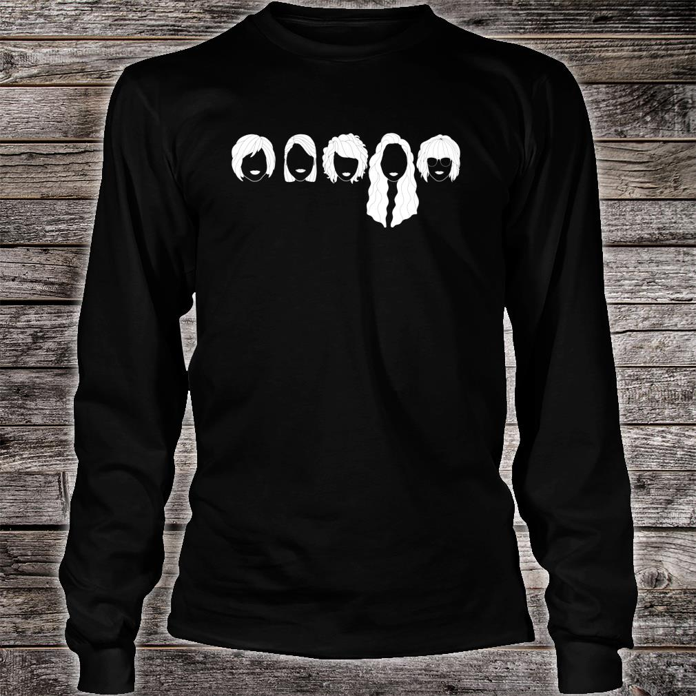 Five Girls Sisters Friends Face Minimal Novelty Graphic Shirt long sleeved