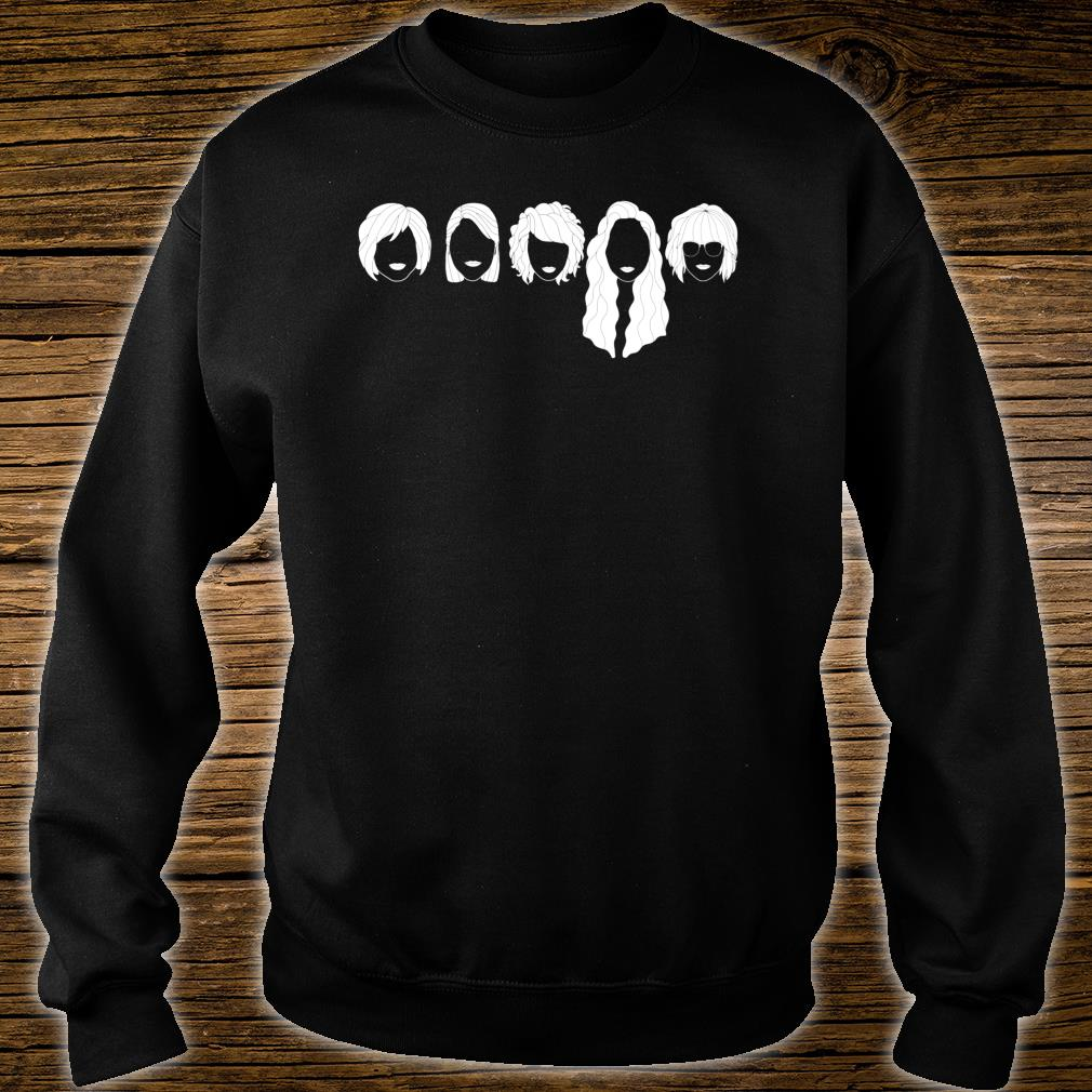 Five Girls Sisters Friends Face Minimal Novelty Graphic Shirt sweater