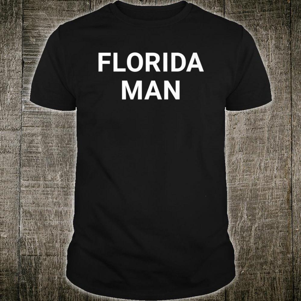 Florida Man Funny Meme Lazy DIY Halloween Shirt