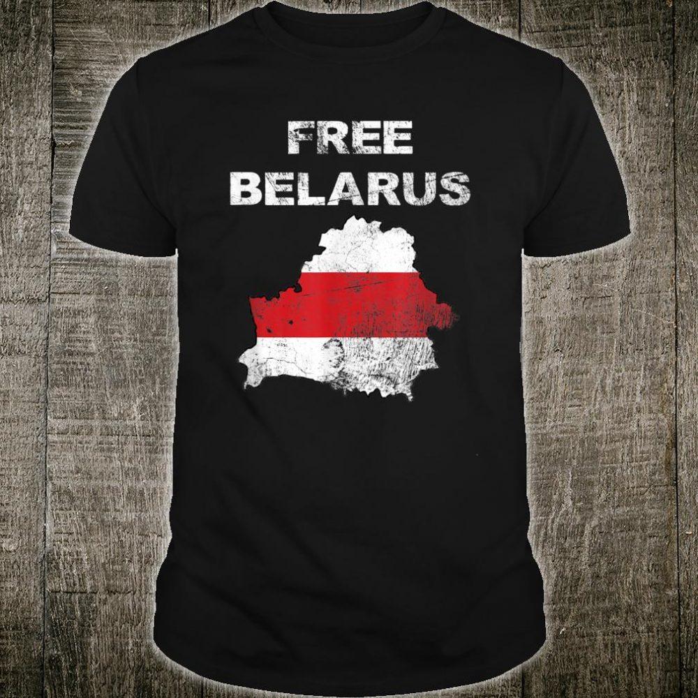 Free Belarus Map Flag Resist Lukashenko Distressed Look Shirt
