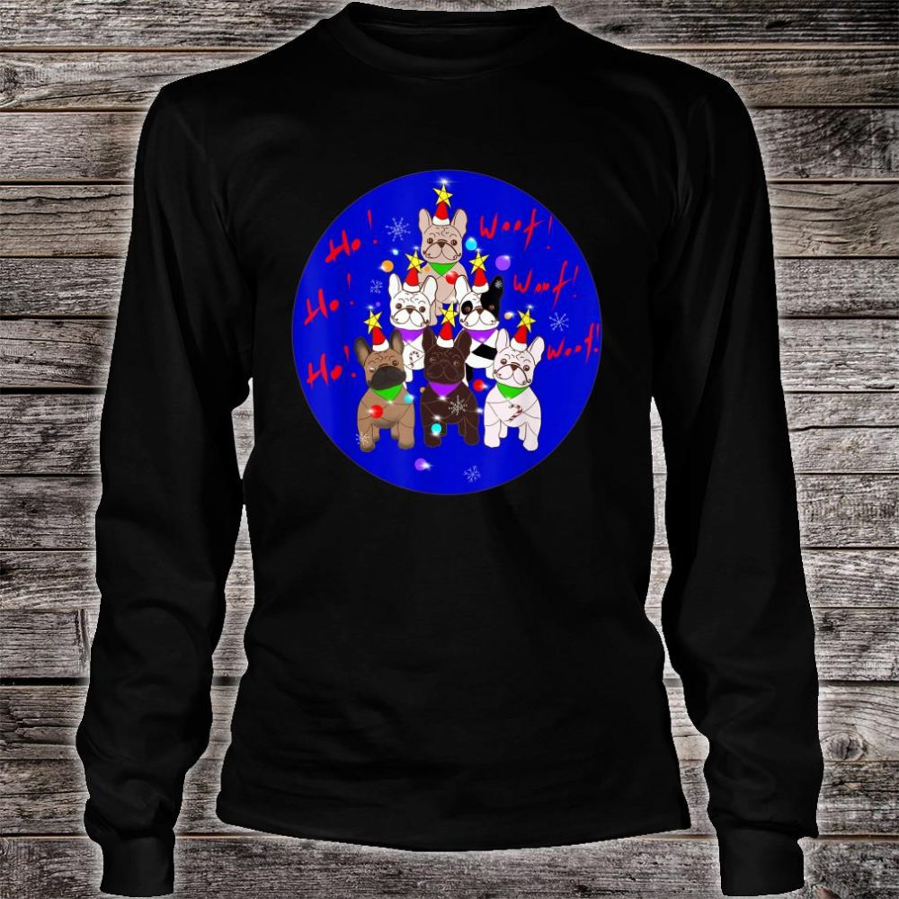 French Bulldogs Christmas Tree Shirt long sleeved