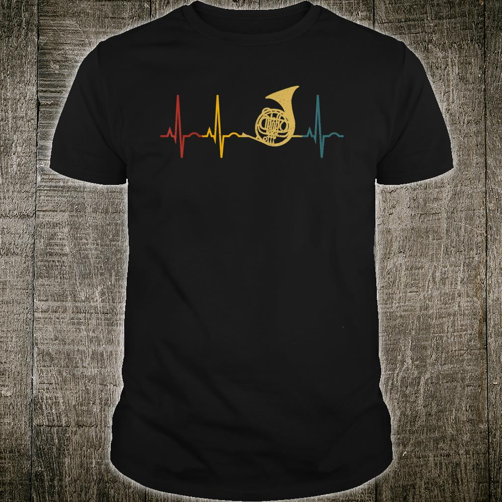 French Horn Lover Heartbeat French Horn Shirt