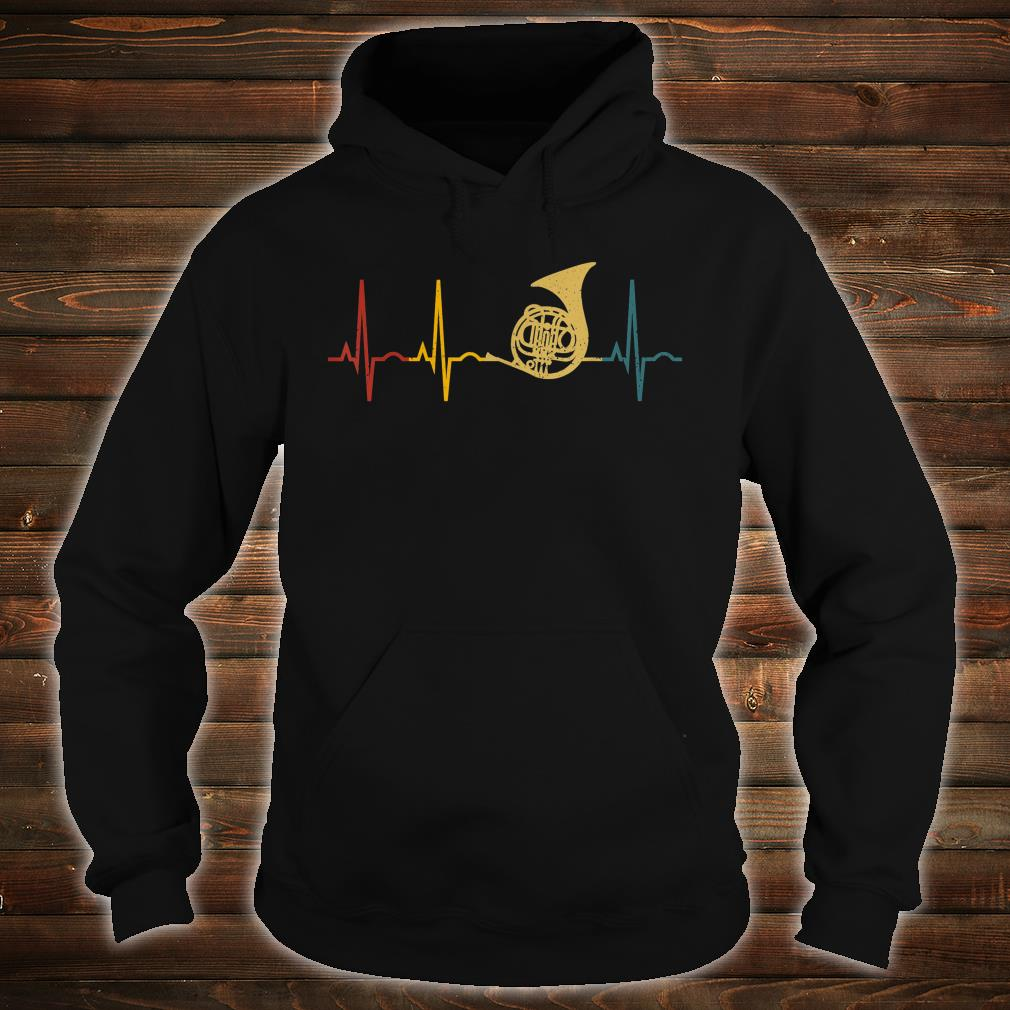 French Horn Lover Heartbeat French Horn Shirt hoodie