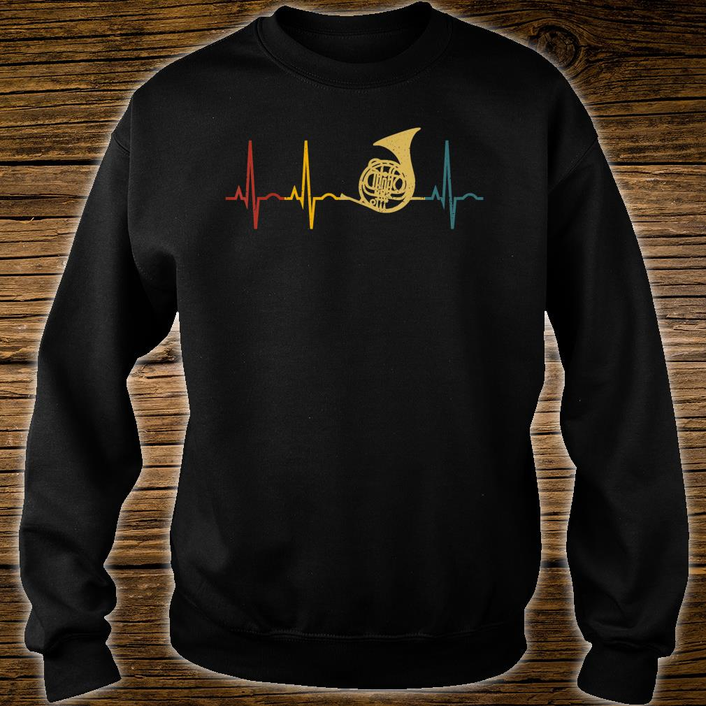 French Horn Lover Heartbeat French Horn Shirt sweater