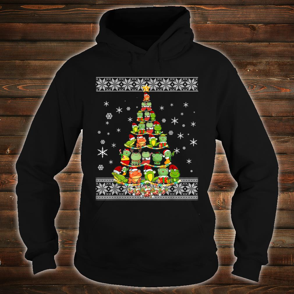 Frog Lovers Ugly Xmas Sweater Christmas Tree Shirt hoodie
