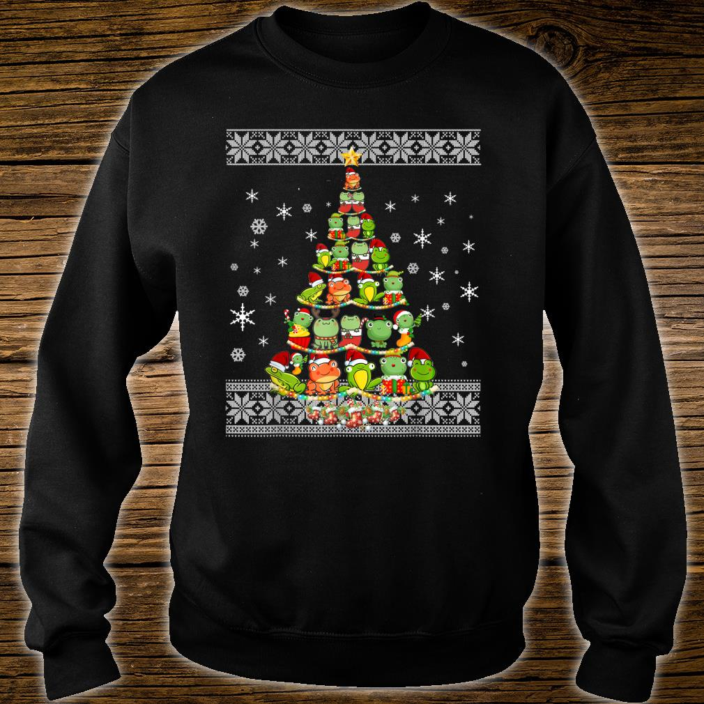 Frog Lovers Ugly Xmas Sweater Christmas Tree Shirt sweater