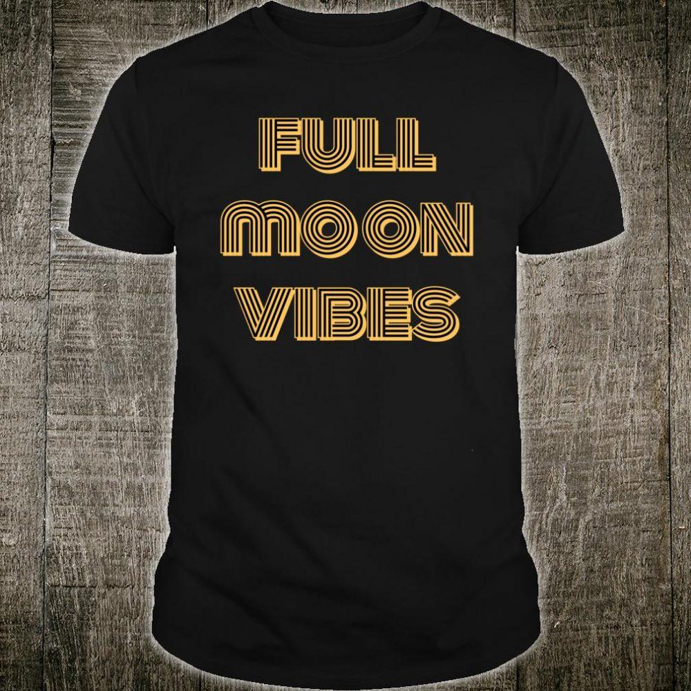 Full Moon Vibes Astrology Retro Shirt