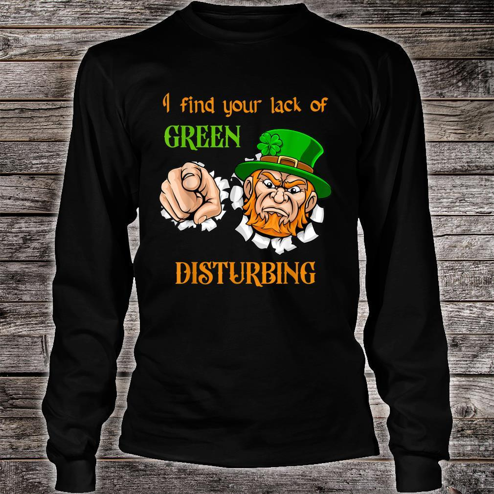 Funny St. Patrick's Day Lack of Green Shirt long sleeved