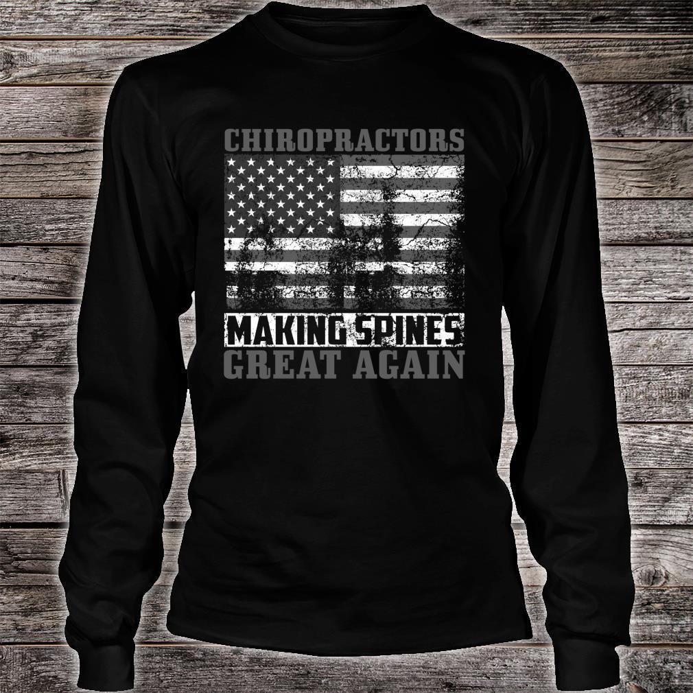 Funny USA Chiropractor American Chiropractic Shirt long sleeved
