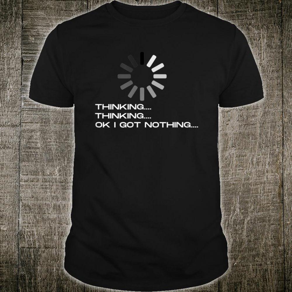 Funny tech geek nerd downloading design Shirt