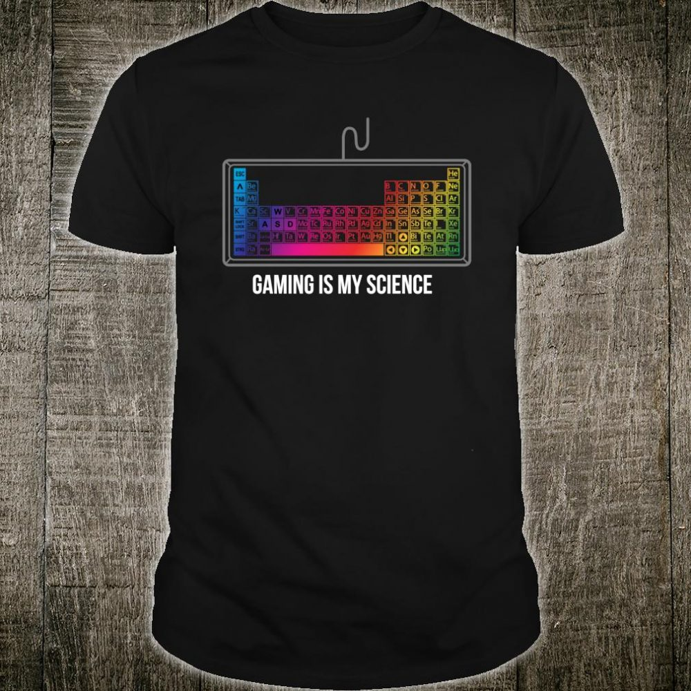 Gaming My Science RGB Keyboard Cool Christmas Shirt