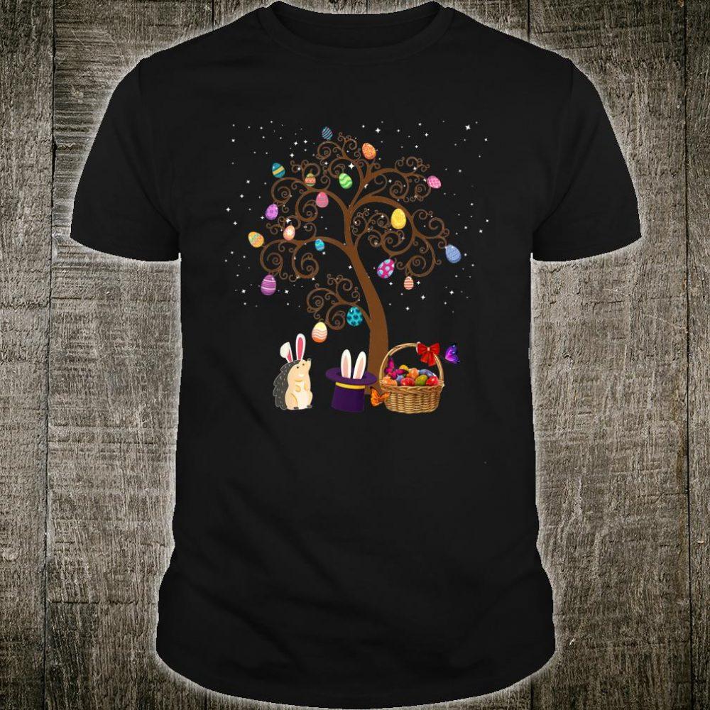 Gedgehog Animal Pet Hunting Egg Tree Bunny Easter Day Star Shirt