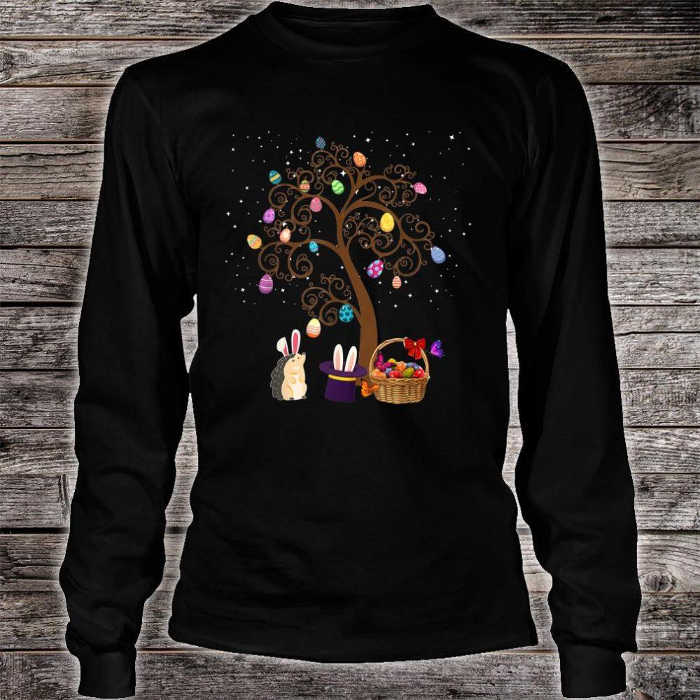 Gedgehog Animal Pet Hunting Egg Tree Bunny Easter Day Star Shirt long sleeved