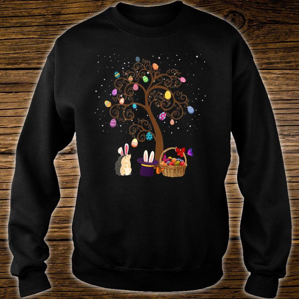 Gedgehog Animal Pet Hunting Egg Tree Bunny Easter Day Star Shirt sweater