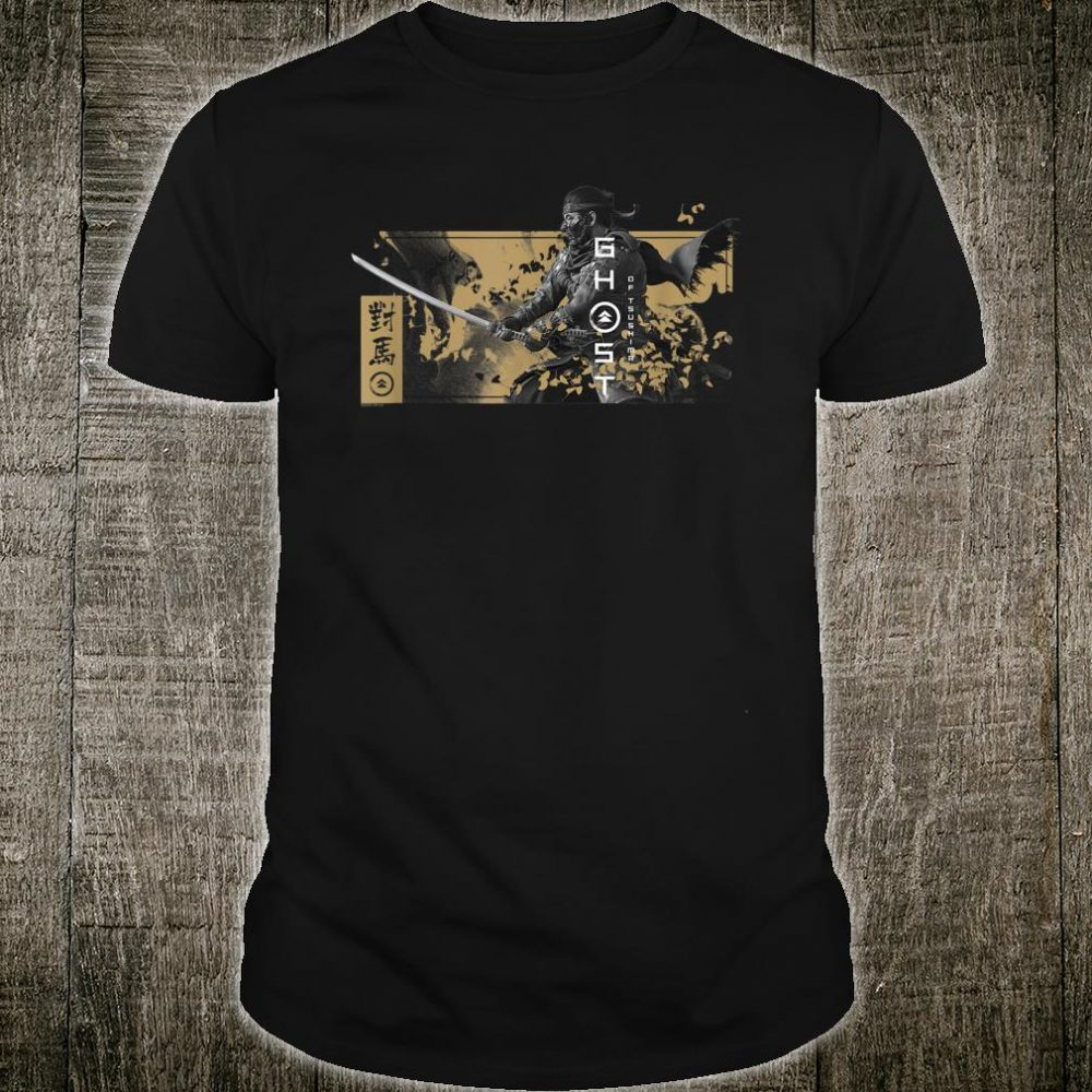 Ghost of Tsushima Katana with Falling Leaves Shirt