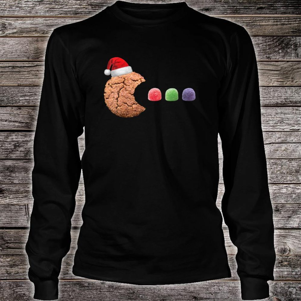 Gingerbread Cookie Eating Gumdrops Christmas Baking Shirt long sleeved