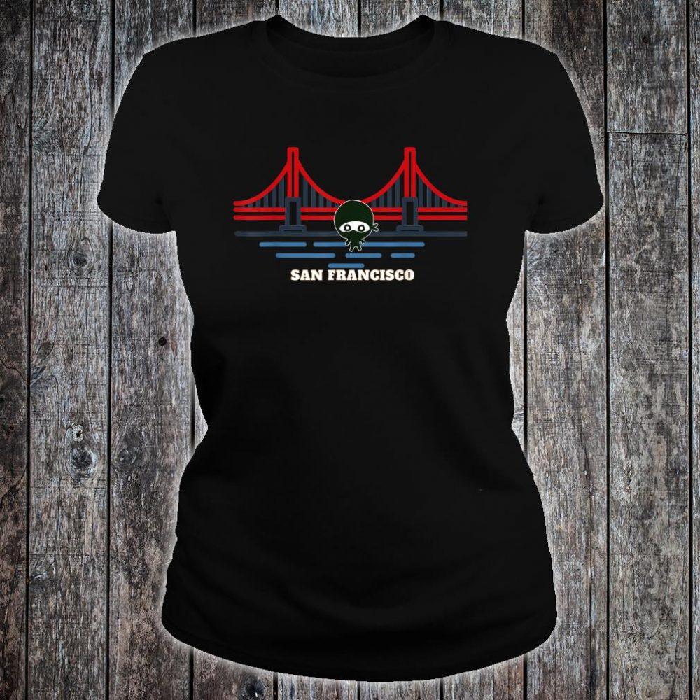 Golden Gate Bridge San Francisco NInja Shirt ladies tee