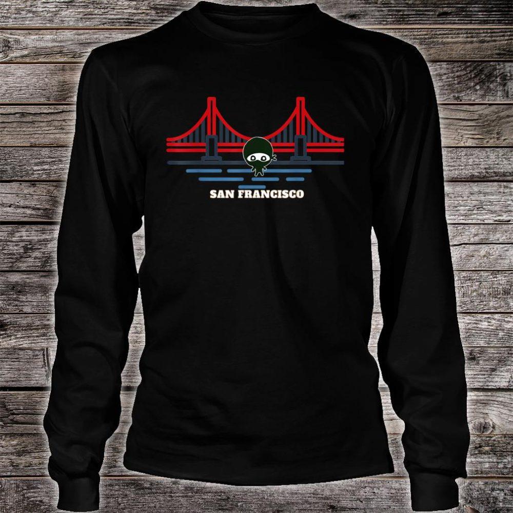 Golden Gate Bridge San Francisco NInja Shirt long sleeved